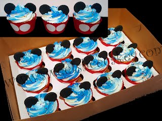Mickey Mouse Inspired 3rd Birthday Celebration Cupcakes